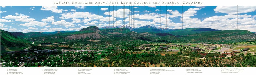LaPlata Mountains Above Fort Lewis College and Durango, Colorado