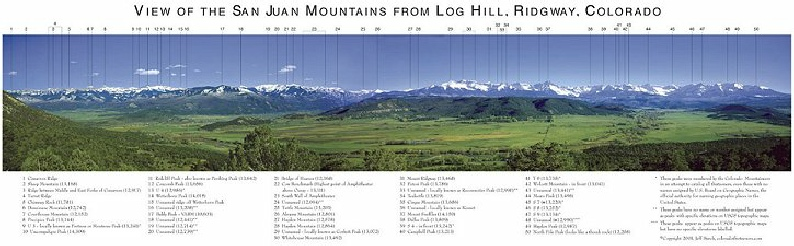 View of the San Juan Mountains from Log Hill, Ridgway, Colorado