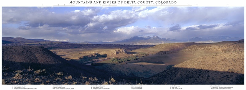 Above Pleasure Park, Mountains and Rivers of Delta County, Colorado