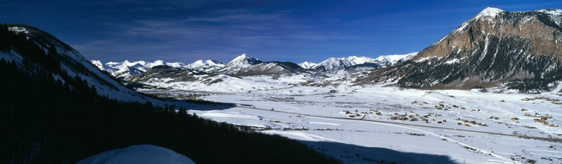 The Crested Butte Valley, Winter - Crested Butte, Colorado