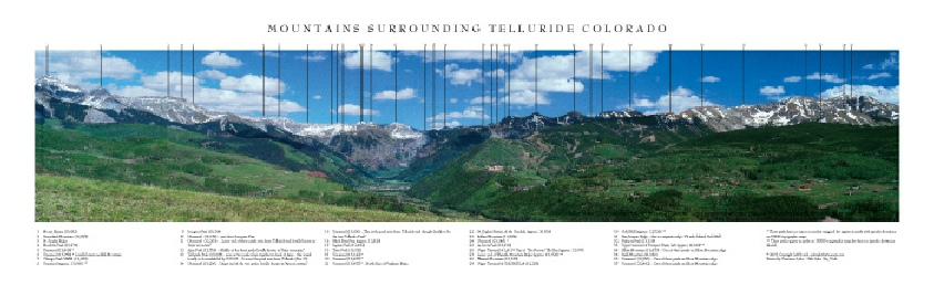 Mountains Surrounding Telluride, Colorado (Summer)