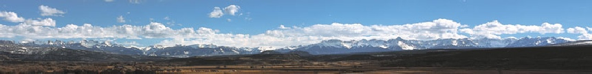 View Looking South from Montrose, Colorado