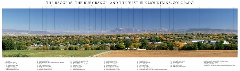 The Raggeds, The Ruby Range and the West Elk Mountains, Colorado
