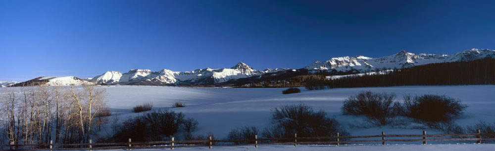 Home Page - Image  of San Juan Mountains in Winter, Top of Dallas Divide - Colorado