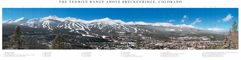 The Tenmile Range Above Breckenridge, Colorado